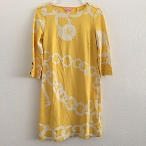 Lilly Pulitzer Yellow Shift Dress Size XS